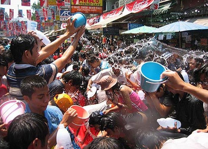 Водный праздник в Таиланде